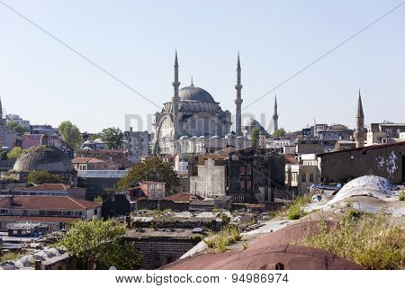 Mihrimah sultan mosque near Edirnekap?. Istanbul. Turkey.