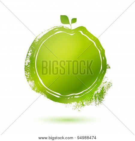 Green Stamp Menu Label