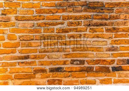 Brick Wall In A Temple In Angthong.