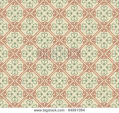 Background pattern. Asian style texture: Chinese, Japanese, Indian. Geometric pattern