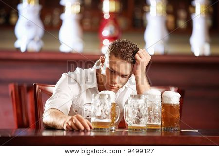Drunk Man In A Pub