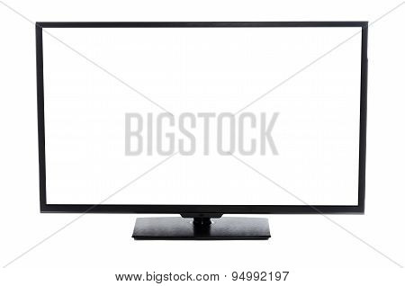 Modern flat screen TV Isolated on white background