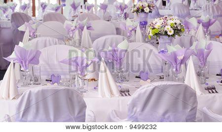 Purple Wedding Tables Stock photo