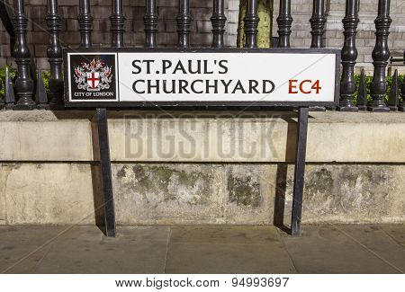 St. Pauls Churchyard In The City Of London