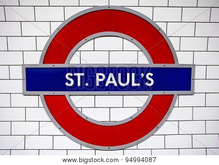 St. Pauls Underground Station In London