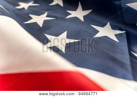 American flag background close up
