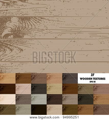 27 colored wooden textures