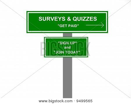 Surveys and Quizzes Sign