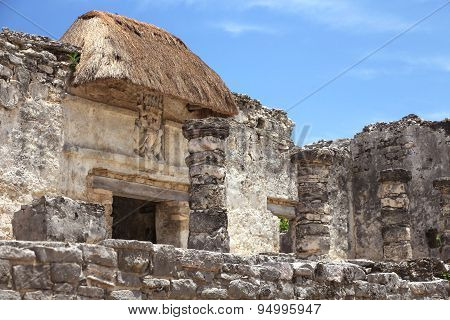 tulum ruins at yucatan peninsula mexico