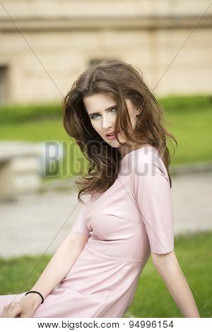 Beautiful Woman In Outside Shoot
