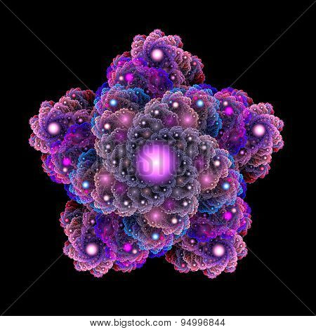 Fractal five-pointed star.