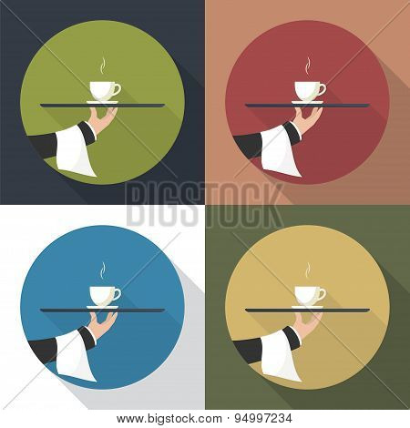 Waiter With Cup Of Coffee