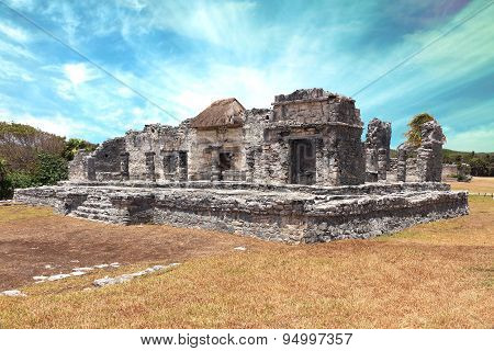 tulum city ruins at yucatan peninsula mexico