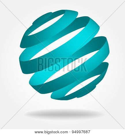 Globes symbol. Vector illustration.