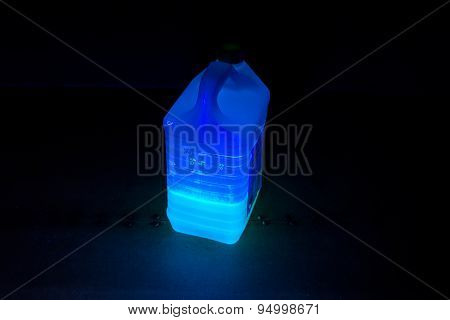 Photo of canister with luminous liquid