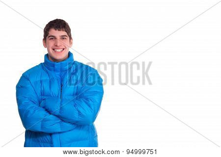 Young Man Smiling Wintertime