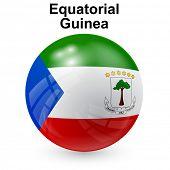 stock photo of guinea  - State flag of Equatorial Guinea - JPG