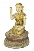 image of budha  - Girl mascot statue Help lucrative trade Belief in Thailand - JPG