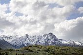 picture of snow capped mountains  - snow capped mountains in northern utah wasatch mountains - JPG