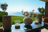 picture of charming  - Quietude of life with charming decoration facing the Mediterranean Sea in Greece - JPG