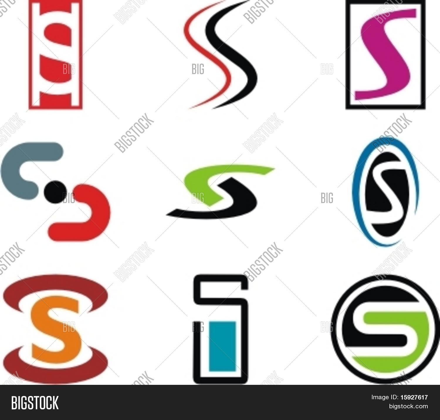 Alphabetical logo design concepts vector photo bigstock for S design photo