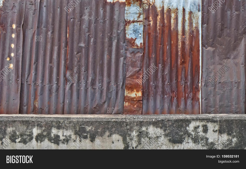 Old Metal Sheet Roof Texture Image Amp Photo Bigstock