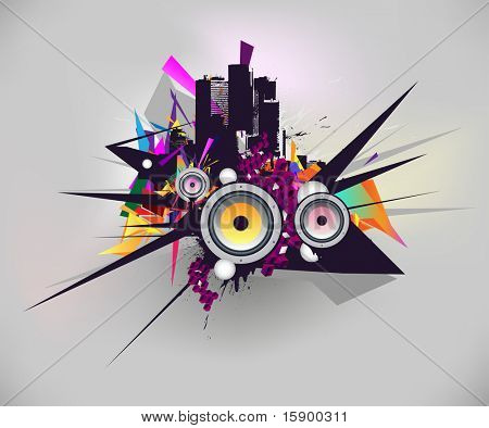 musical and urban vector