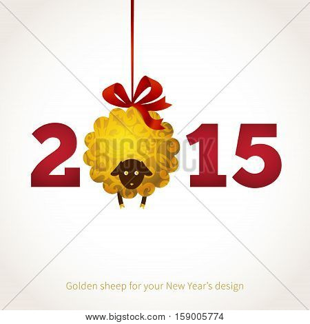 Vector Sheep, Symbol Of 2015 On The Chinese Calendar.
