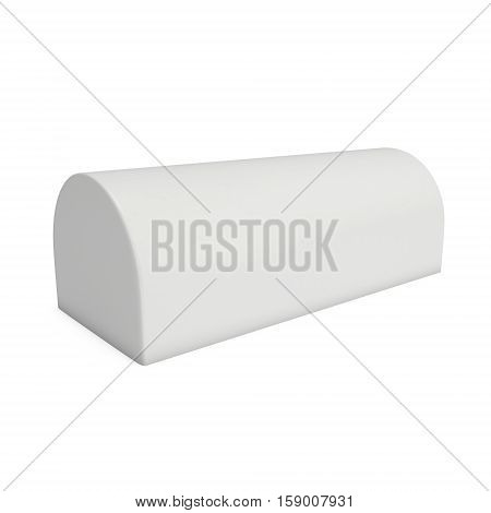 Expand Outdoor Display Tunnel. Pop Up Banner Stand. Trade show booth white and blank. 3d render isolated on white background.