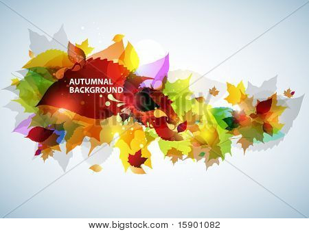 Autumnal floral background