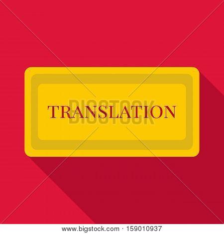 Translation icon. Flat illustration of translation vector icon for web
