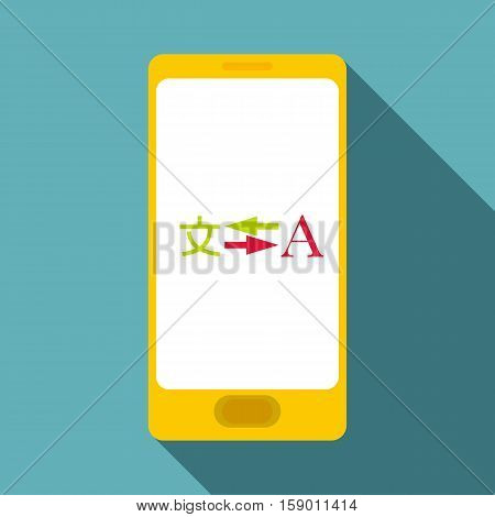 Phone translation icon. Flat illustration of phone translation vector icon for web
