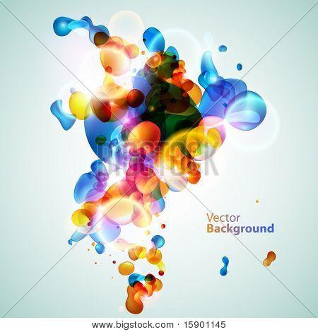 Bolhas de água colorida