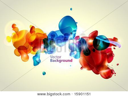 Colorful water bubbles