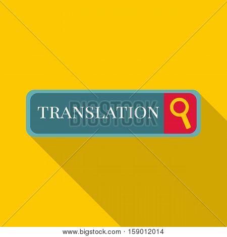 Internet translation icon. Flat illustration of Internet translation vector icon for web