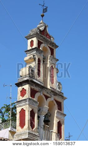 Orthodox bell tower in Corfu Island, Greece