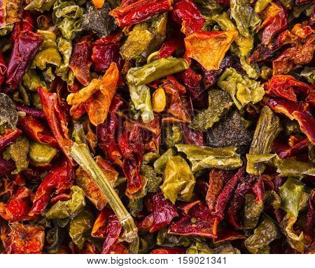texture dried peppers and seeds (chili peppers habanero jalapeno rawit birds eye chili thai chili)