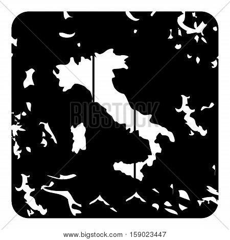 Italy map icon. Grunge illustration of Italy map vector icon for web