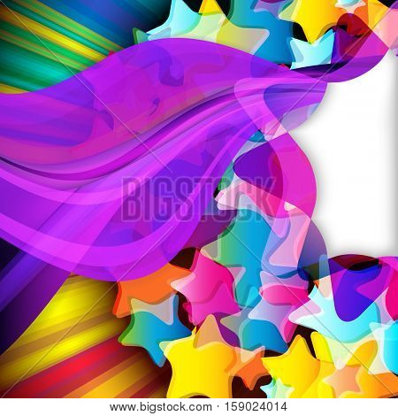 Abstract design background with color stars.