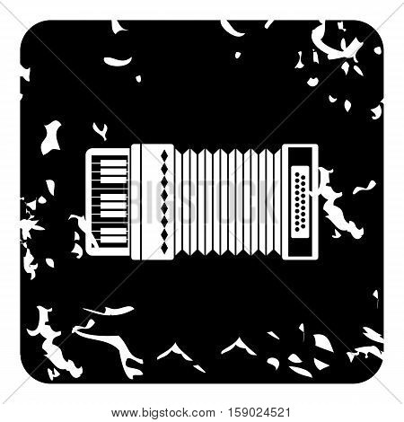 Accordion icon. Grunge illustration of accordion vector icon for web