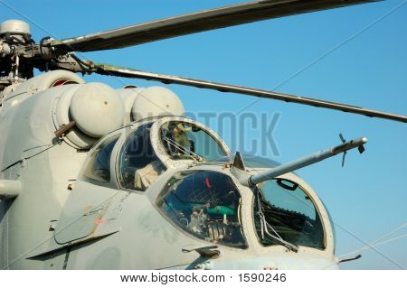 Cockpit Of The Helicopter Mi-24