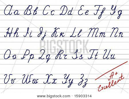 Accurate handwriting alphabet