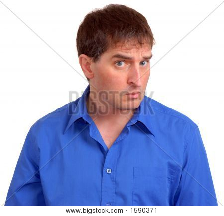 Man In Blue Dress Shirt 2