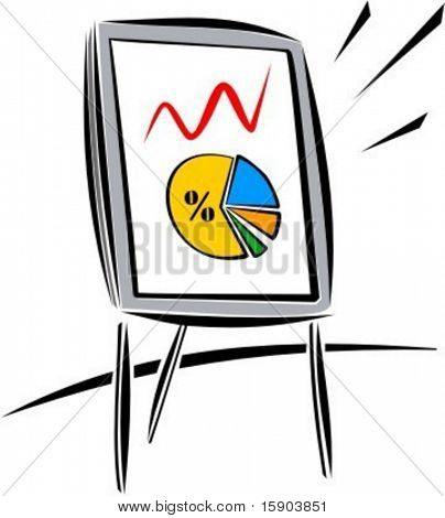 Business chart on a board. Check my portfolio for many more images of this series.