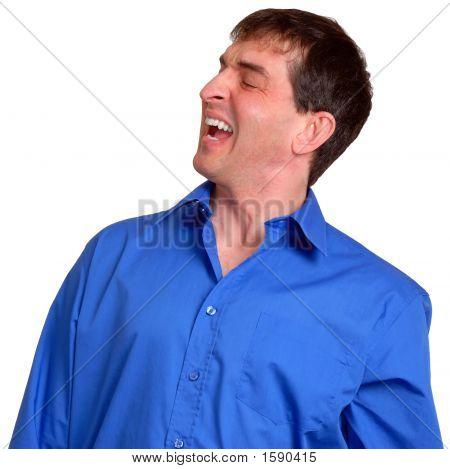 Man In Blue Dress Shirt 17