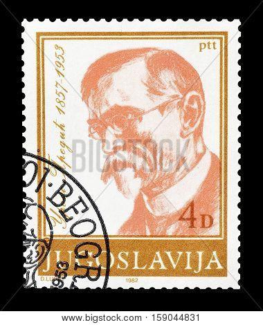 YUGOSLAVIA - CIRCA 1982 : Cancelled postage stamp printed by Yugoslavia, that shows Uros Predic.