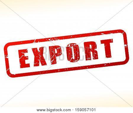 Illustration of export stamp on white background