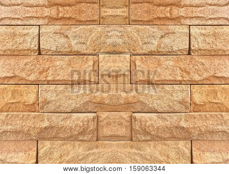 Abstract brick wall texture background.Grungy blocks of stonework technology color horizontal architecture wallpaper