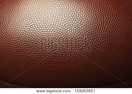 Rugby ball, closeup