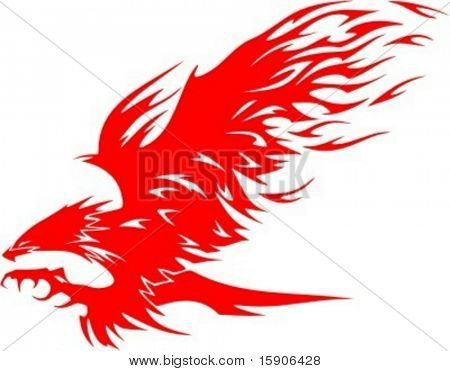 Flaming Eagle - vehicle graphic. Ready for vinyl cutting. Check my portfolio for many more images.